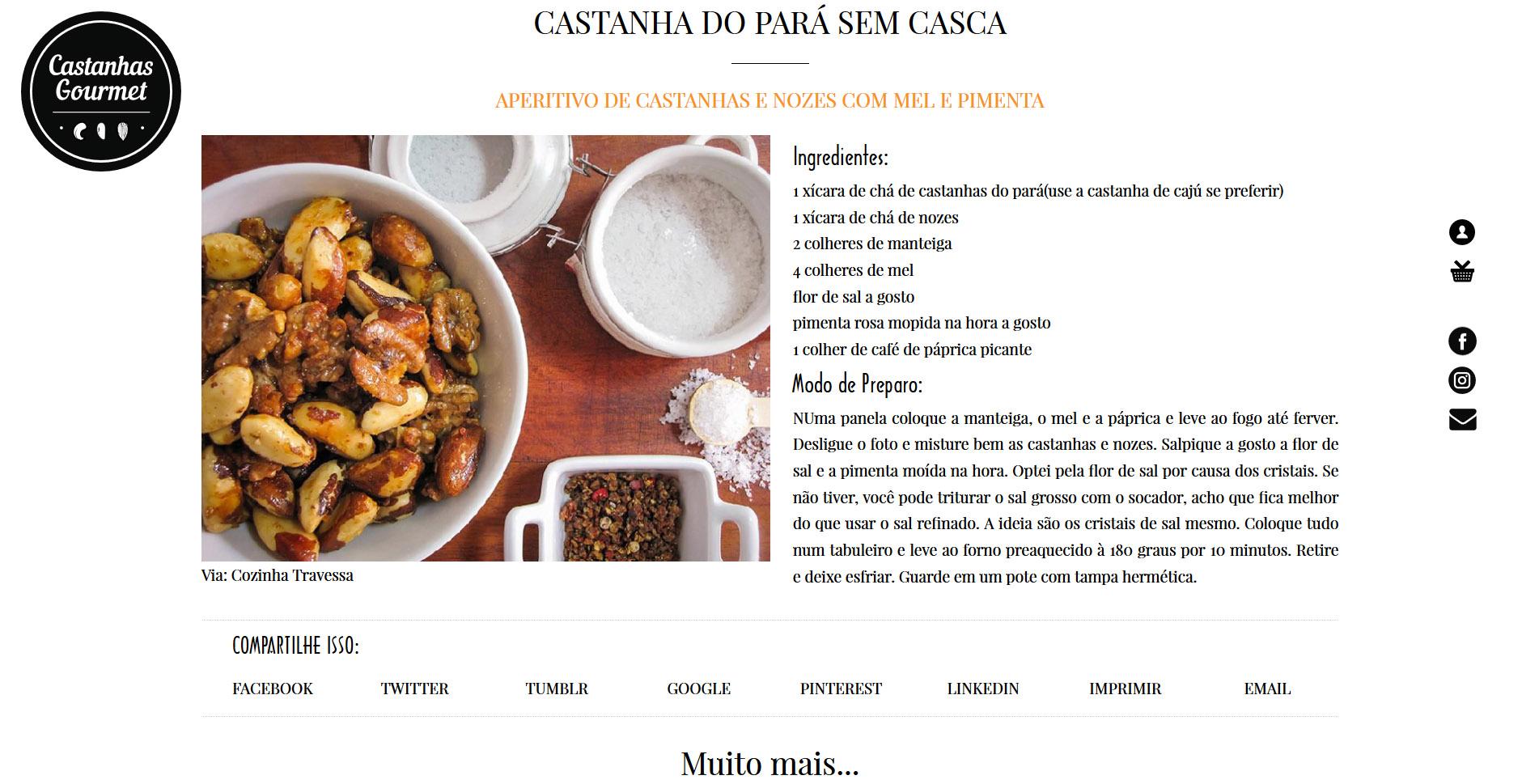 Castanhas Gourmet